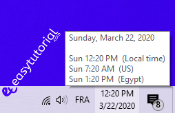 Multiple Timezones Windows Clocks Usa Canada Utc Gmt 4