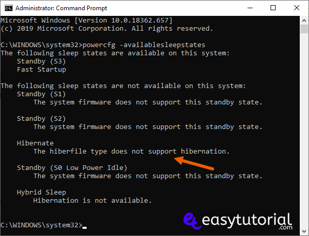 Enable Hibernation Windows 2 Powercfg Availablesleepstates Cmd