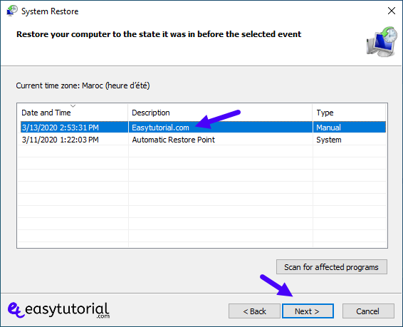 Create Restore Point Manual Windows 10 6