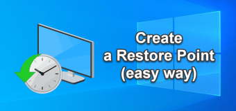 Create Restore Point Manual Windows 10 Easy Tutorial 340x160