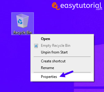 Disable Delete Remove Recycle Bin Windows 3