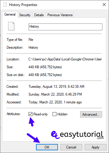 Disable Google Search Chrome History 9 History Read Only