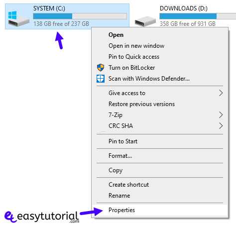 Extend Shrink System Partition Windows Size 29