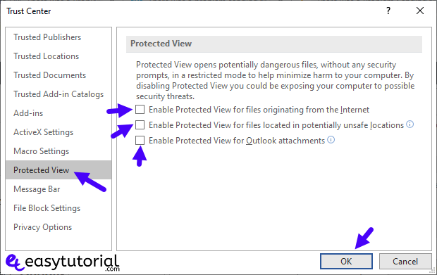 Fix There Was A Program Sending The Command To The Program 15 Protected View