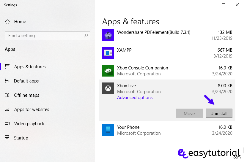 Remove Inbuilt Apps Windows 10 0