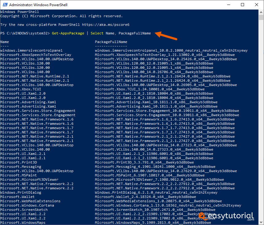 Remove Inbuilt Apps Windows 10 3 Powershell