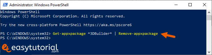 Remove Inbuilt Apps Windows 10 4 Powershell
