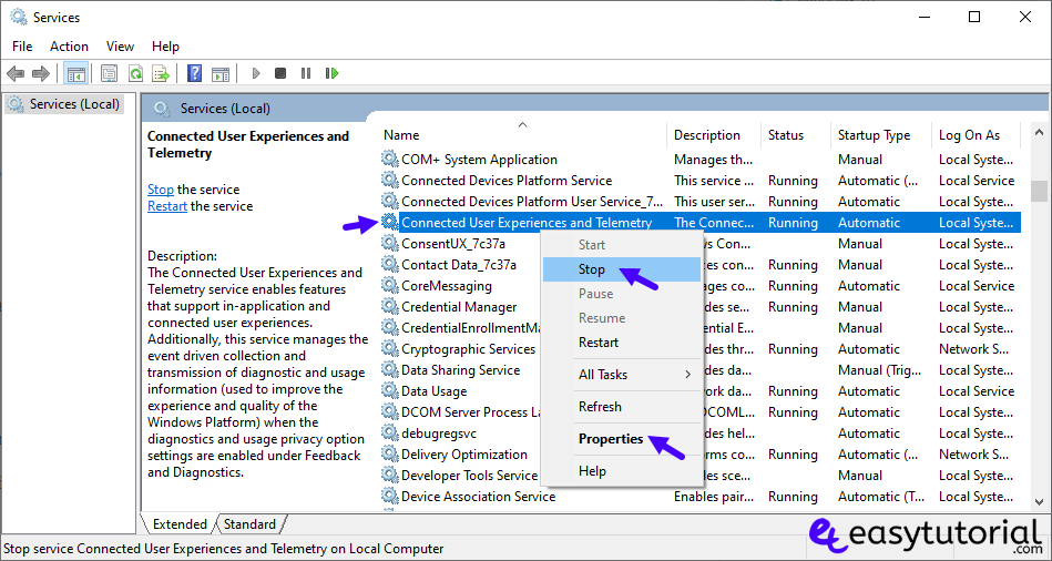 Stop Sending Data Microsoft Telemetry Autologger 2 Services