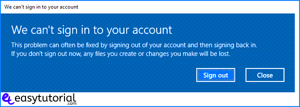 We Cant Sign Into Your Account Error Message