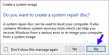 Backup Full System Image Windows Recovery 10 Do You Create System Repair Disc