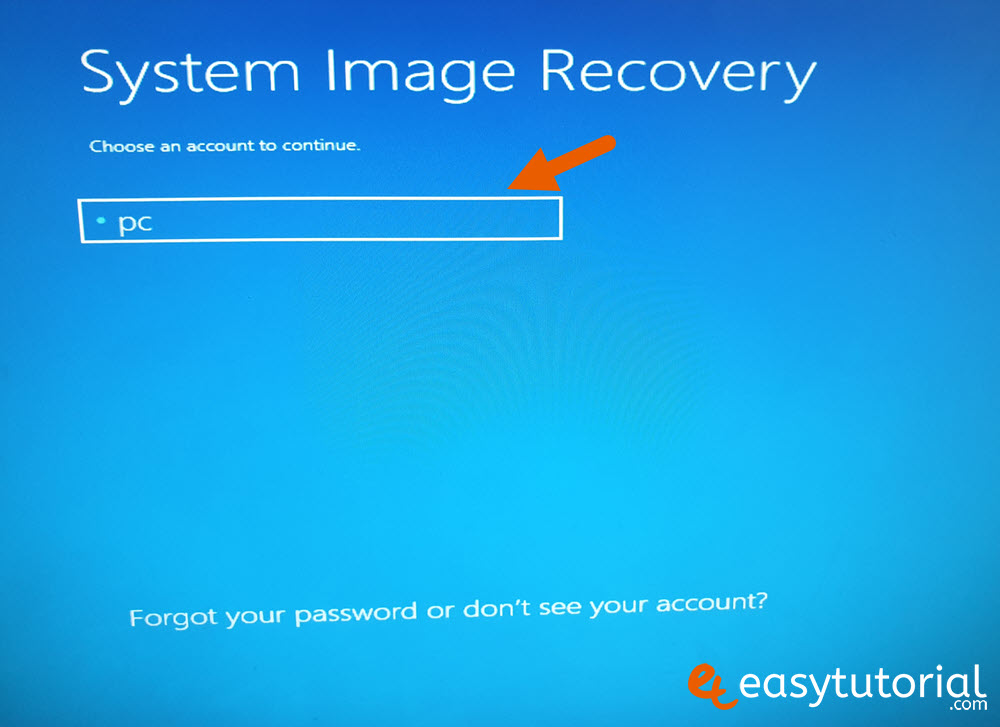 Backup Full System Image Windows Recovery 15