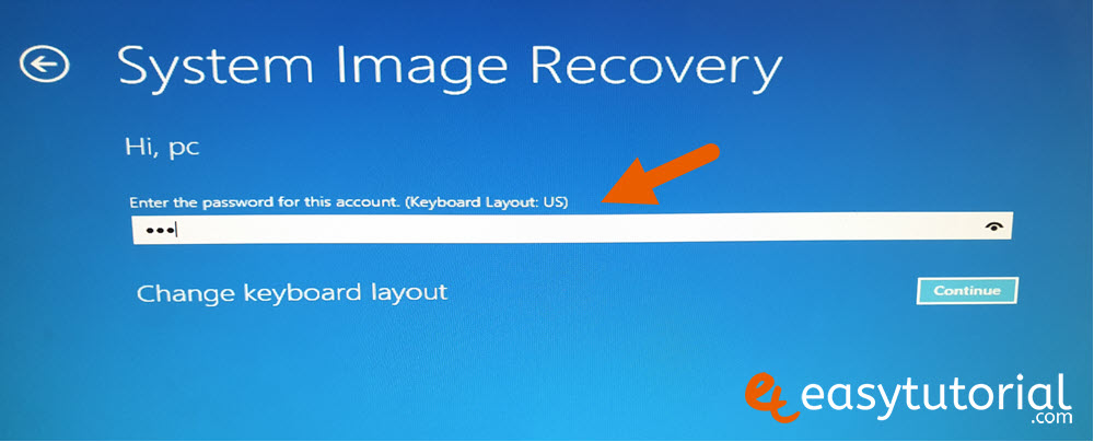 Backup Full System Image Windows Recovery 16
