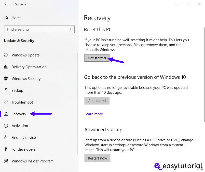 Fix Start Menu Doesnt Open Problem Solution Solved Windows 10 12 Reset This Pc Recovery