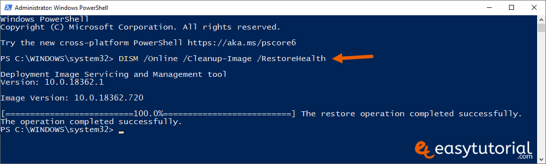 Fix Start Menu Doesnt Open Problem Solution Solved Windows 10 4 Powershell Cleanup Image Restorehealth