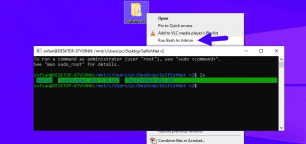 Open Bash as Admin from Context Menu on Windows 10