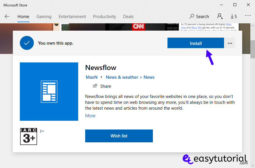 Rss Newsflow App Windows 10 Best Free Feed Wordpress Easy Tutorial 1