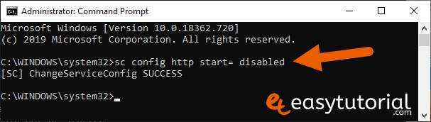 Apache Xampp Problem Port 80 443 In Use Not Starting Fixed Solved Solution 14 Sc Config Http Start Disabled