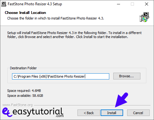 Batch Bulk Resize Photos Images Faststone Resizer Windows 10 3 Setup