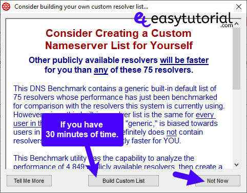 Dns Benchmark Speed Up Internet Bandwidth Network Domain Name System Server 3 Build Custom List