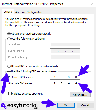 Dns Probe Finished Nxdomain Fix Solved Solution How To Fixed 6 Use Following Dns