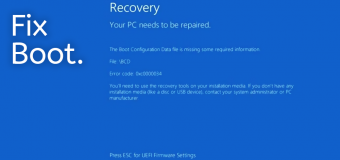 Fix Repair Solution Solved Boot Startup Mbr Windows 10 Steps Easy Tutorial Recovery Your Pc Needs To Be Repaired 340x160