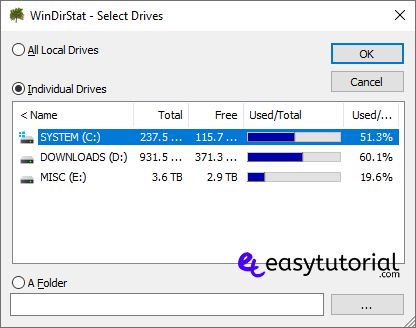 Folder Size Windows 10 Explorer 4 Windirstat