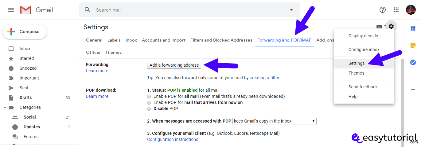Forward Gmail Messages Another Account 1 Add Forwarding Address