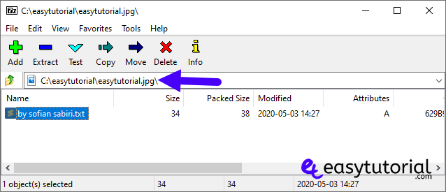 Hide Secret File Inside Image Windows 10 Without Software 5 Open Jpg With 7zip