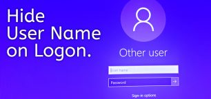 How to Hide the User Name on Logon Screen on Windows 10