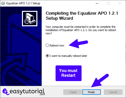 Increase Boost Sound Audio Volume Windows 10 Equalizer Apo 5 Reboot Restart