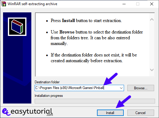Install Pinball Cadet Space Windows 10 Free Game 1 Winrar Self Extracting Archive