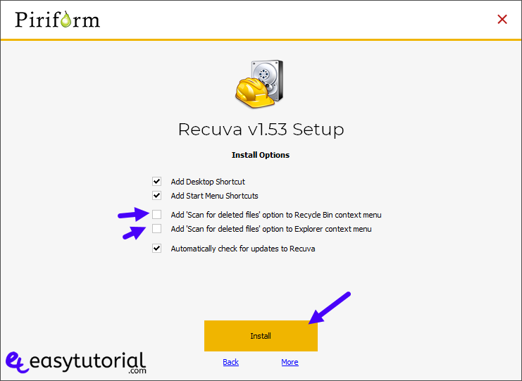 Recover Deleted Files Photos Formated Usb Hard Drive Disk 1 Recuva Installation