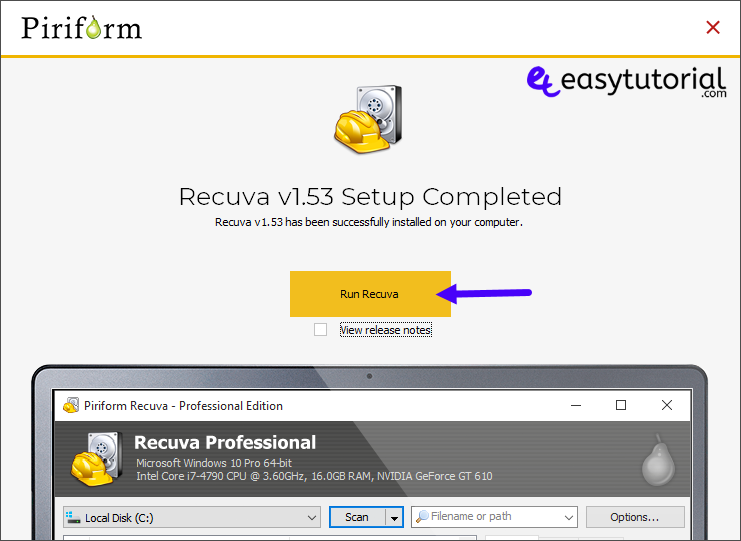 Recover Deleted Files Photos Formated Usb Hard Drive Disk 2 Recuva Installation Finished