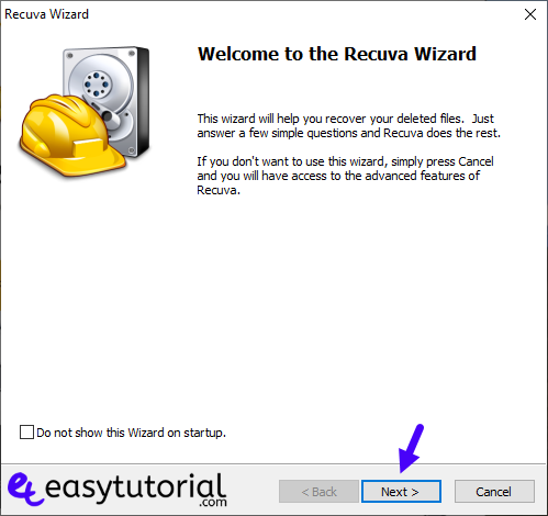 Recover Deleted Files Photos Formated Usb Hard Drive Disk 3 Recuva Wizard Next