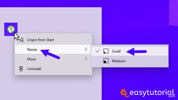 Customize Personalize Start Menu Tips Tricks Resize Icons Pin Windows 10 5 Resize Icon Tile Small Medium