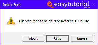 Delete Font Fonts Registry Editor Windows 10 Cannot Be Deleted Because In Use 1 Error Message