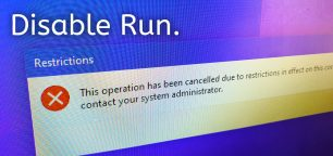 How to Disable Run on Windows 10
