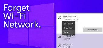 Forget Remove Delete Wifi Wi Fi Profiles Connection Network Windows 10 Easy Tutorial 340x160