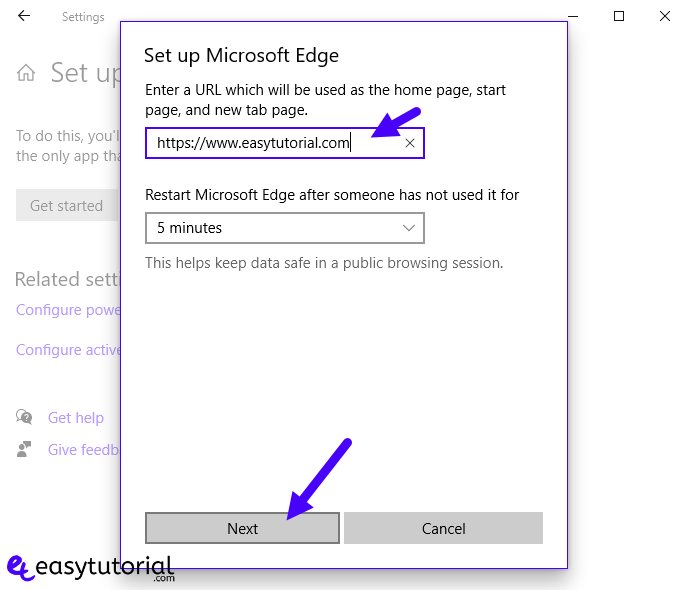 Kiosk Mode Windows 10 7 Set Up Microsoft Edge Url Home Page
