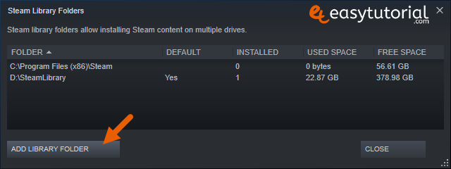 Move Steam Games Between Hard Drives Disks Another Other Windows 10 3 Add Library Folder