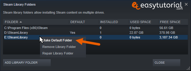 Move Steam Games Between Hard Drives Disks Another Other Windows 10 5 Make Default Folder
