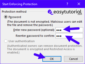 Protect Microsoft Word Document Access Restrict Password Encrypt 10 Start Encryption Password