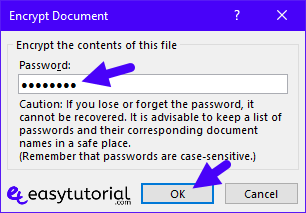 Protect Microsoft Word Document Access Restrict Password Encrypt 5 Encrypt Password
