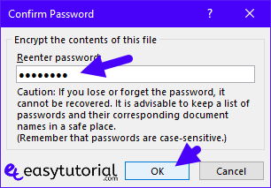 Protect Microsoft Word Document Access Restrict Password Encrypt 6 Encrypt Password