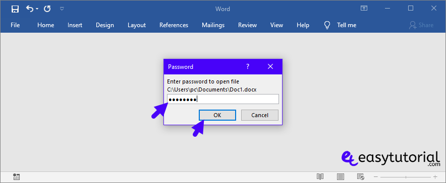 Protect Microsoft Word Document Access Restrict Password Encrypt 7 Password