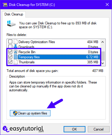 Speed Up Windows 10 Pc Performance Improve Increase Computer Free Tips 30 Clean Up System Files