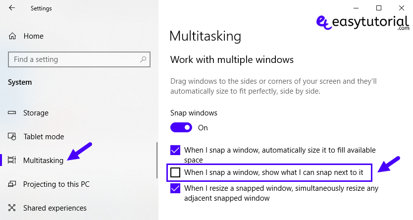 Windows 10 Tips Improve Productivity Tweaks Tricks 6 Multitasking When I Snap A Window Show Next To