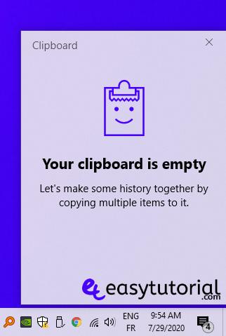 Clipboard History Windows 10 3 Your Clipboard Is Empty