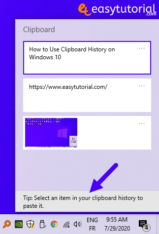 Clipboard History Windows 10 4 Select An Item To Paste It