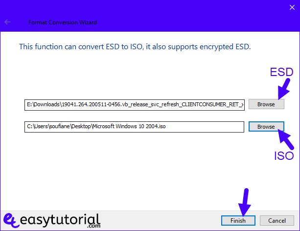 Convert Esd To Iso Windows 10 Dism 4 Select Esd File
